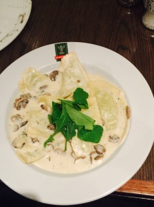 A pasta dish from Europa Parkview